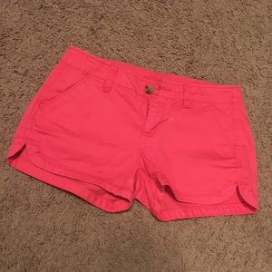 Pink shortie shorts